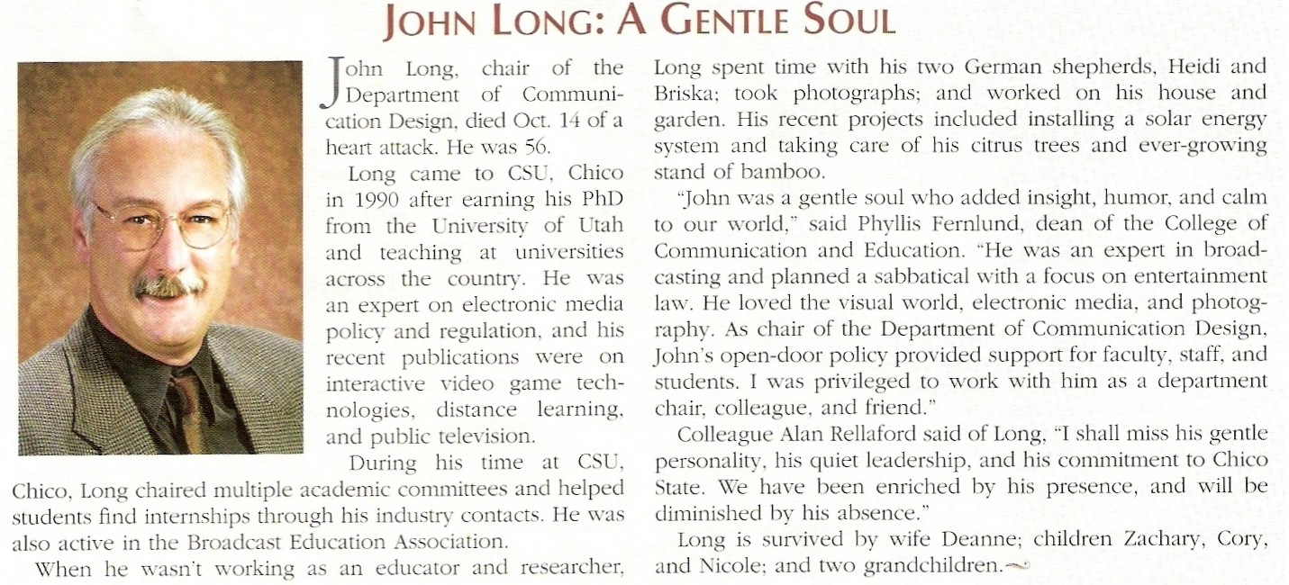 John Long Obituary