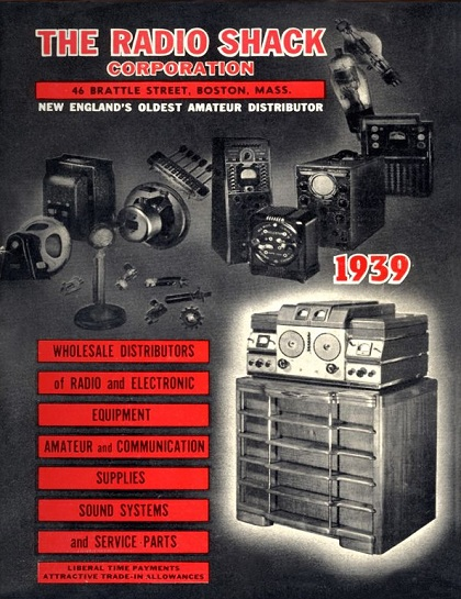 Radio Shack Catalog 1939 - Cover