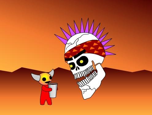 Radiskull & Devil Doll