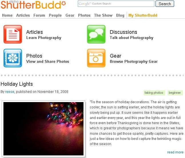 ShutterBudd Screen shot