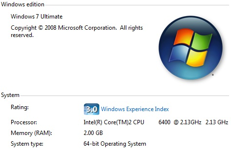 Windows7 info